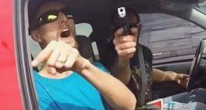 Pointing Gun Road Rage