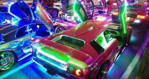Light up cars