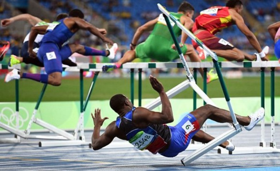 Athlete Literally Falls At First Hurdle; Shows True ...