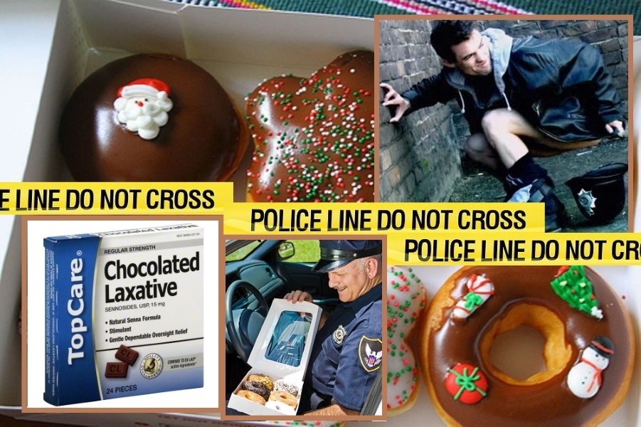 Cops Laxative Christmas Donuts (1)