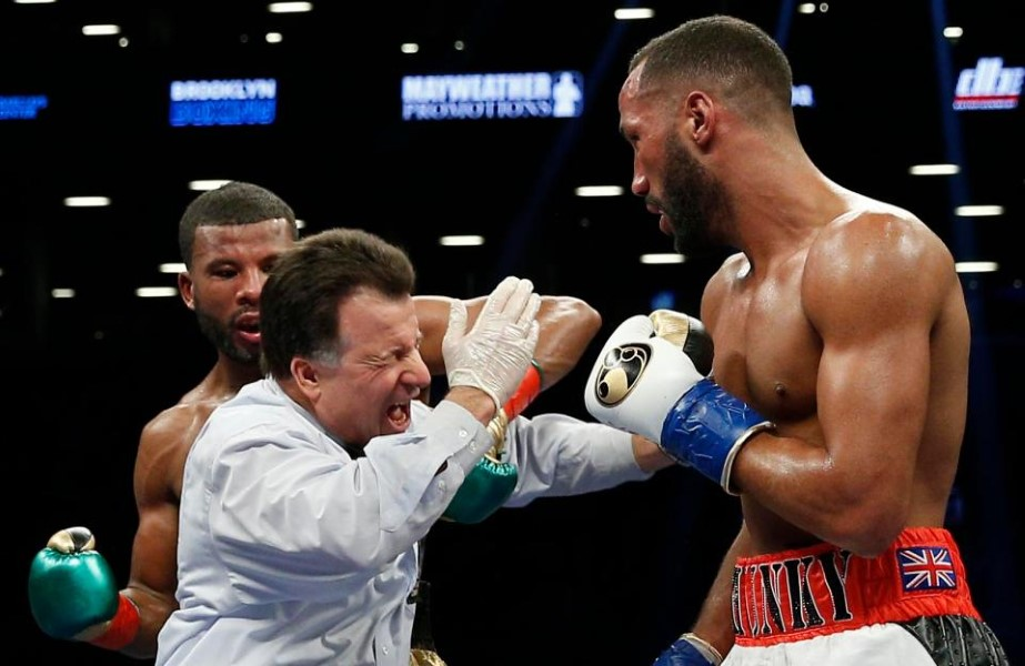 Badou Jack hits referee
