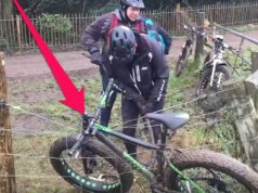 Bike caught on an Electric Fence