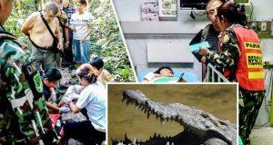 Crocodile-Selfie