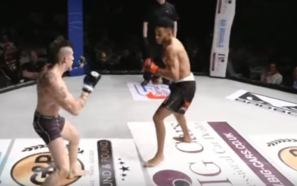 MMA Head Kick Knockou