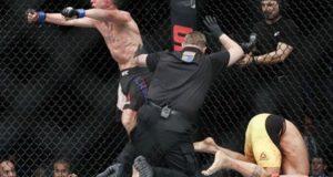 Darren Elkins upsets Mirsad Bektic (1)