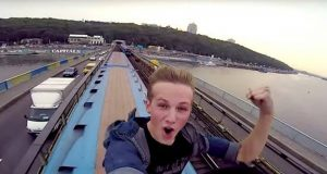 Train Roof Surfing