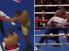 Badou Jack hits referee