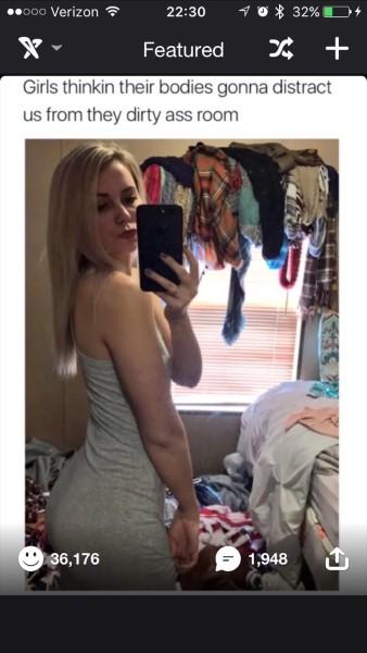 Dirty Room Selfie