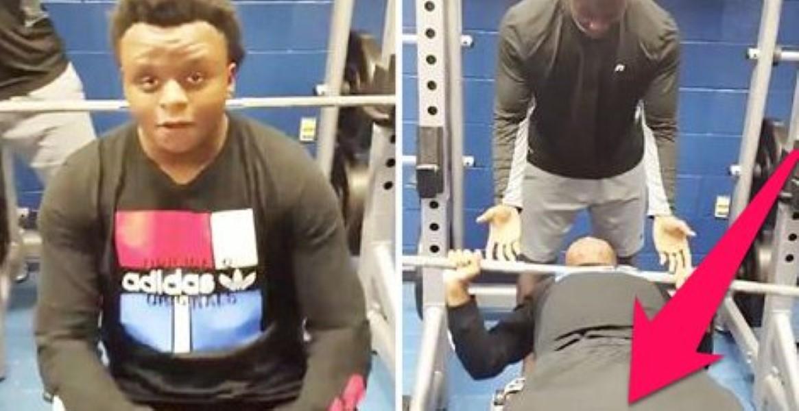 Man Sharts Lifting At Gym